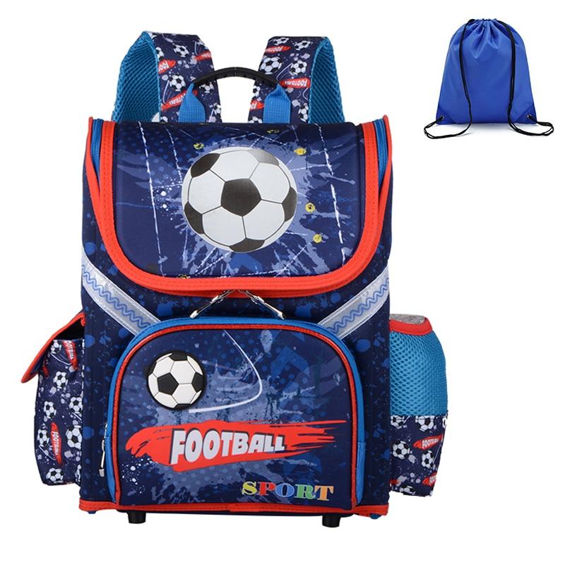 High Quality Boys School Backpacks Orthopedic 3D Pattern Kids Packsack Children Primary School Bags Child Boys Rucksack