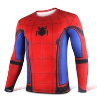 Mens Casual 2016 Movie Captain America 3 Civil War Spider Man Peter Parker Superhero Long Sleeve
