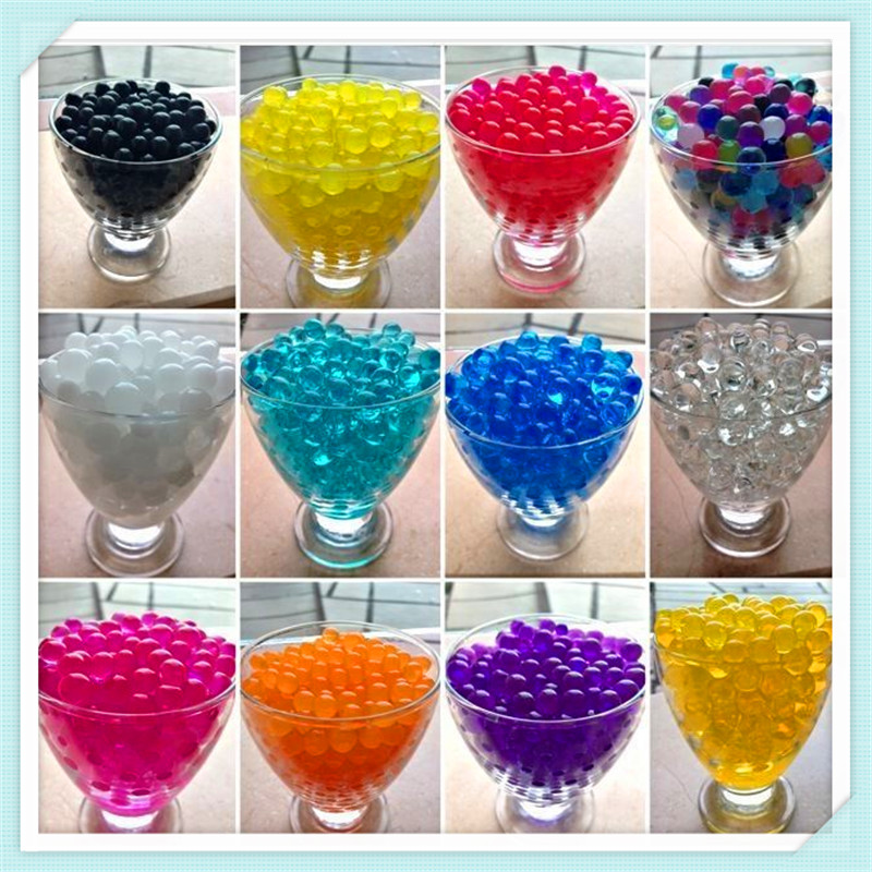 1KG Pearl Shape 3mm Crystal Soil Mud Growing Up Magic Jelly Ball Wedding Home Decoration Hydrogel