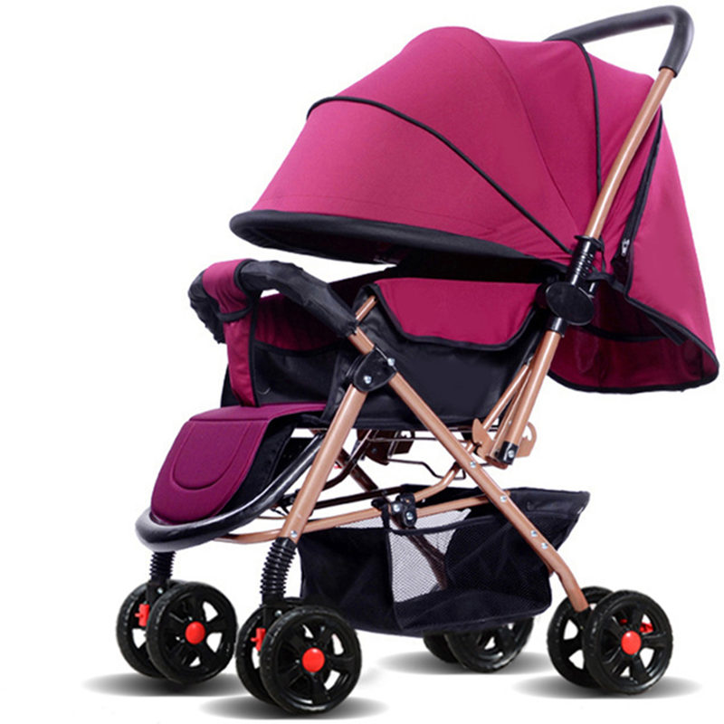 Baby Stroller High Landscape Baby Tolley Umbrella Stroller Portable Can Sit & Lie Baby Carriage Newborn Pram Pushchair carrinho 2017 special offer poussette baby strollers aiqi stroller portable foldable high landscape suspension umbrella pram pushchair