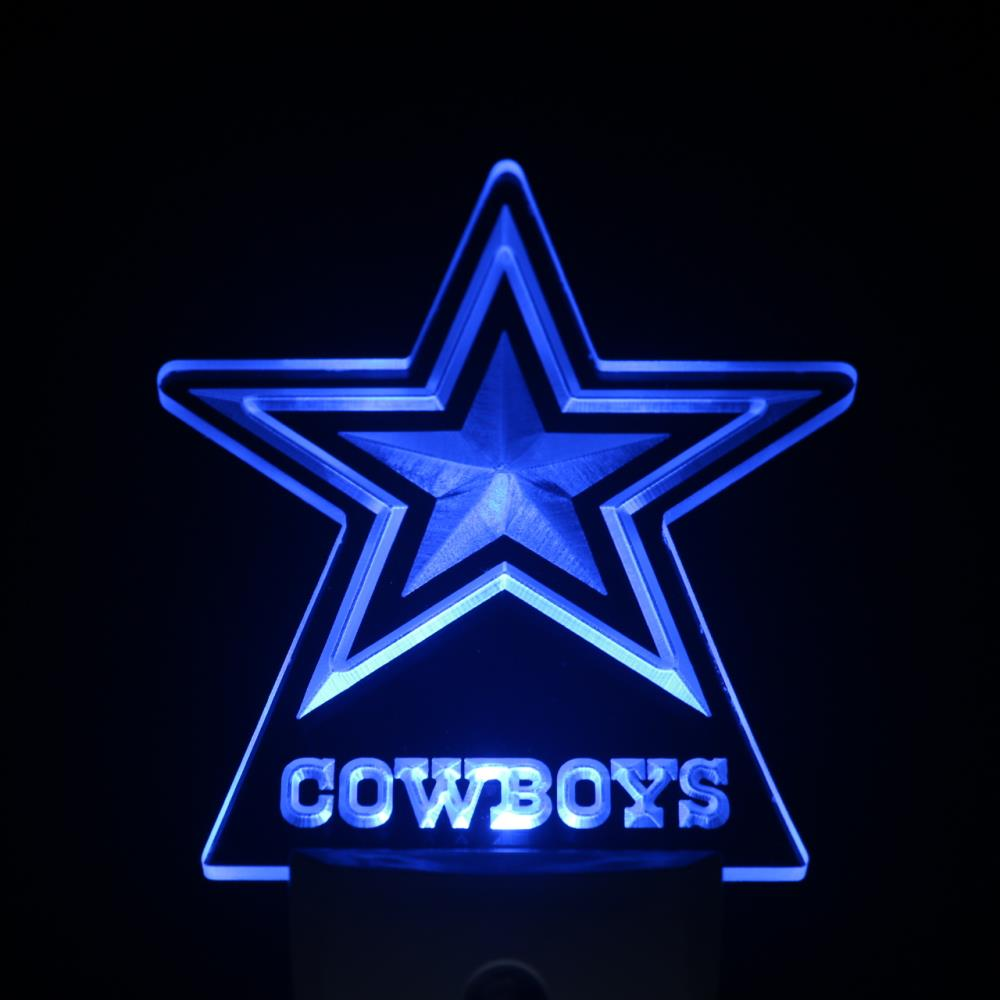 Details About Football Dallas Cowboys Day Night Sensor Led Night Light Sign