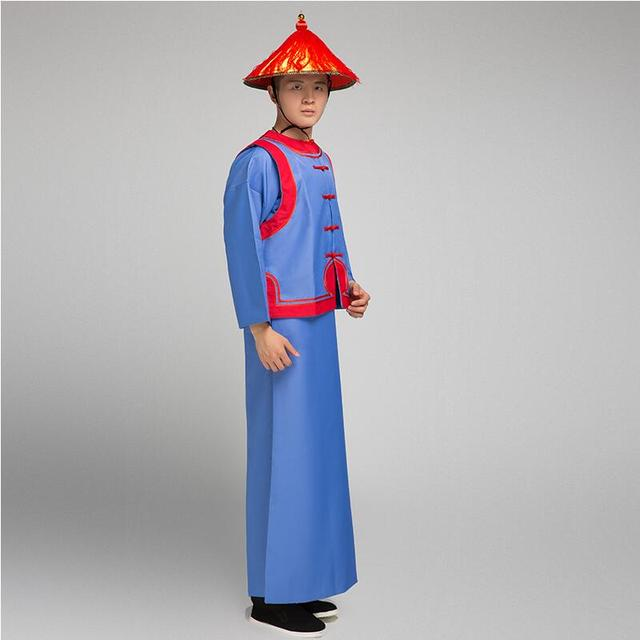 The Qing dynasty soldier suit for men ancient royal soldier costume film television male guard robe halloween cosplay clothing