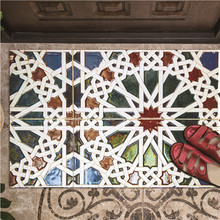 Creative Mobile Wall Affixed Wall Window Mat Decoration Stained glass Floor Stic