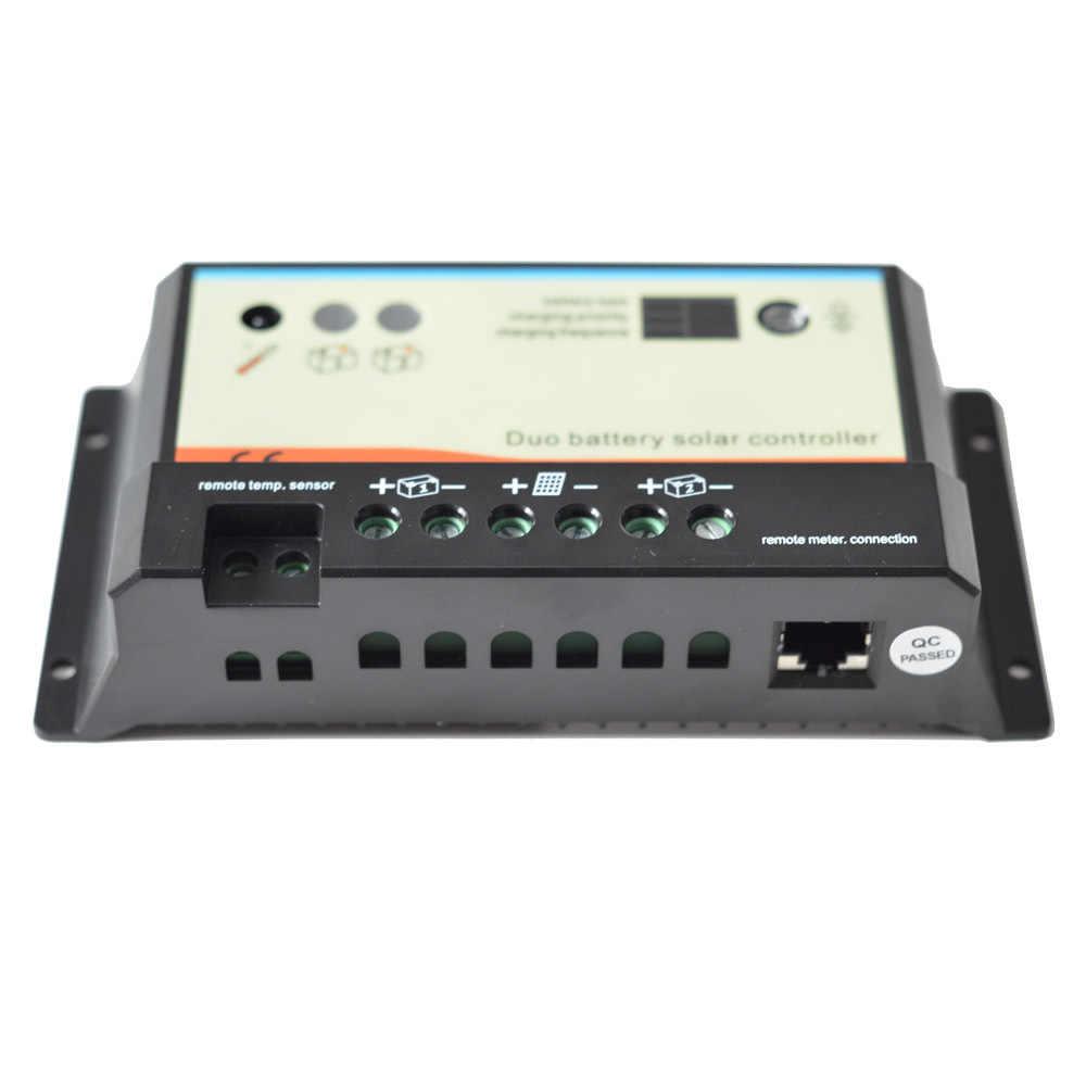 10а доль аккумулятор контроллер заряда контроллер заряда контроллер с дистанционным MT-1 meter-1 DUO-BATTERY epip20-db для двух аккумуляторов Зарядное устр. на солнечных батареях