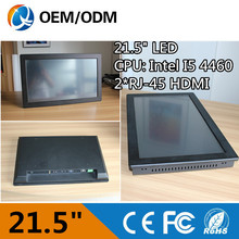 21.5 inch all in one pc tablet pc industrial pc ip65 touch screen resolution 1920×1080 2GB RAM 500G HDD with i5 CPU