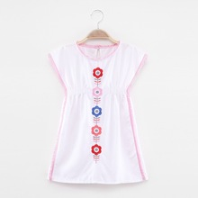 New children dress girls embroidered cotton flower clothing girl dresses summer