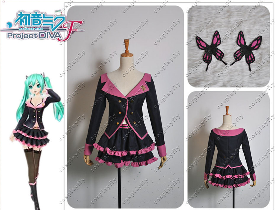 Vocaloid Hatsune Miku Project DIVA F Sweet Devil MIKU Cosplay Costume Custom Made Any Size Shoes Boots Full Set