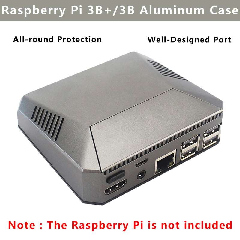 Argon Raspberry Pi 3 Model B Plus Aluminum Case Box With Power Switch Shell + Cooling Fan + Heat Sink For Raspberry Pi 3B+/3B
