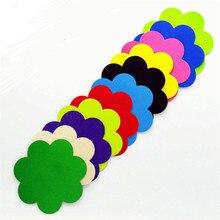10pairs/(20pcs)/lot women Nipple Covers disposable breast petal plum shape wedding dress chest paste14 colors