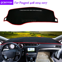 For Peugeot 408 2014 2017 Dashboard Mat Protective Interior Photophobism Pad Shade Cushion Car Styling Auto