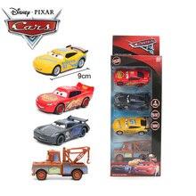 4шт 7-9см Диснея Pixar автомобилей 3 игрушки Молния Маккуин матер Джексон Сторм Круз Рамирес Смоки литья под давлением металл вытяните назад модель автомобиля