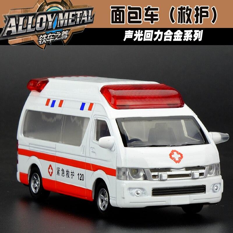 regalo para el nio cm fresco minibus furgoneta de la ambulancia de aleacin modelo de coche acustptica tire hacia atrs jug