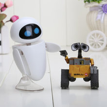 2pcs/lot 6cm Wall-E Robot Wall E & EVE PVC Action Figure Collection Model Toys Dolls(China)