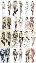 Fashion NEW Dakimakura Anime pillow case cover 150X50CM Attack on Titan Levi Rivaille Hugging Body Pillow Case KS0107 rivaille 33729 1373