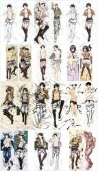 Nueva funda de almohada de Anime Shingeki no Kyojin Dakimakura funda de almohada de ataque en Titan Leví