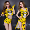 2015 yellow dancer dress Ds costume twirled dj service hiphop female singer costumes jazz nightclub bar show party