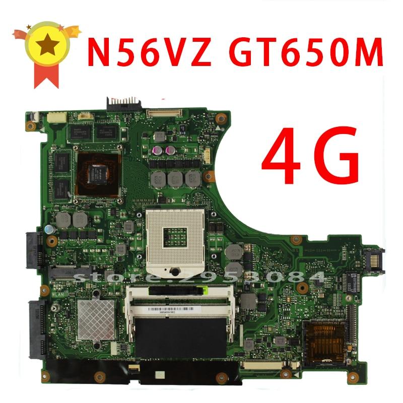 for Asus N56VZ laptop motherboard N56VM REV2.3 Mainboard GT650M 4GB DDR3 N13P-GLR-A1 PGA989 tested well n56vb motherboard n56vm rev2 3 mainboard gt740 4g ddr3 pga 989 fit n56vm n56vj n56vz 100% tested