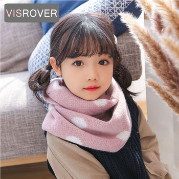 VISROVER 13 colorways Autumn Winter unisex kid dot knitted snood baby scarf warm neck  scarves soft handfeeling snood wholesale