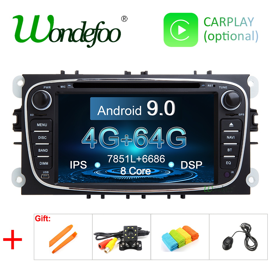 DSP IPS Android 9 0 64G 2 din CAR DVD For FORD focus Mondeo S MAX