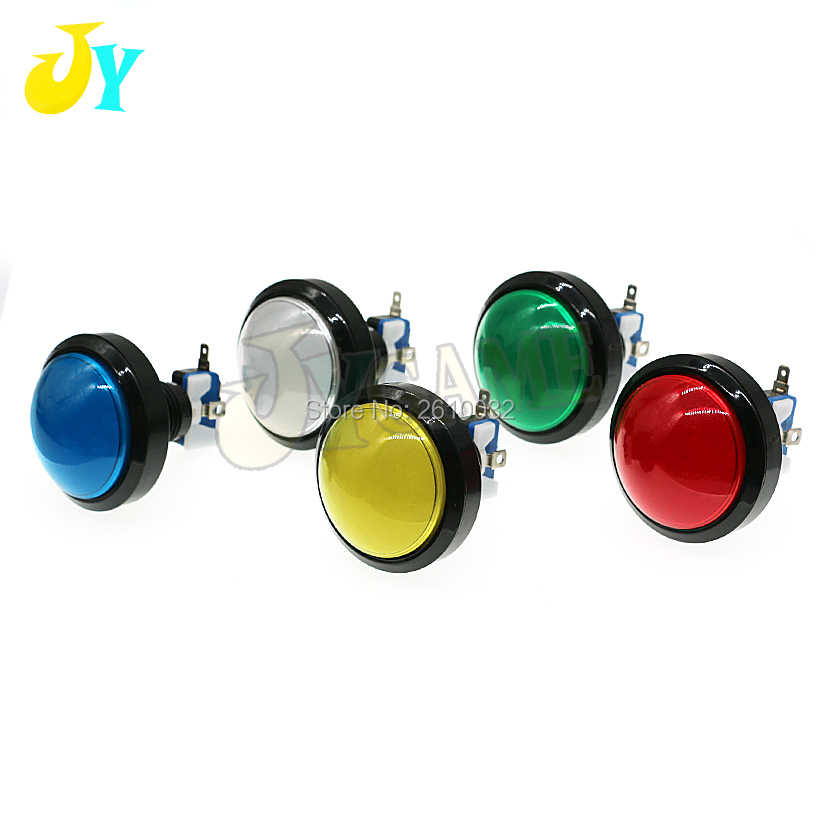 10pcs Arcade Button 5 Colors LED Light Lamp 60MM 45MM Big Round Arcade Video Game Player Push Button Switch