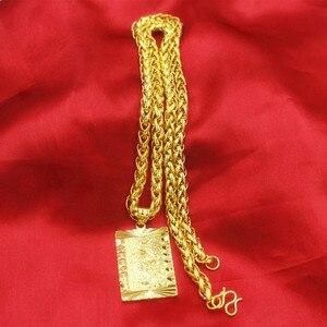 Image 4 - 誇張ロングチェーン 24 18k ゴールドワイド男性ジュエリービッグゴールドネックレス仏中国のドラゴントーテムのため男性