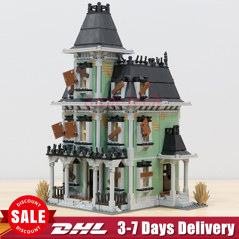 DHL Lepin 16007 Monster fighter The haunted House Model Building Kits Model Assembling Toys Compatible 10228 For Children Gifts the monster next door
