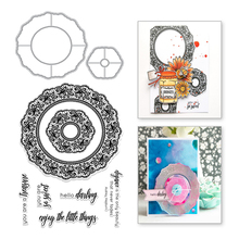 Naifumodo Circle Lace Frames Metal Cutting Dies Clear Stamps and Dies Scrapbooking For Making Card Decorative Embossing Crafts naifumodo feather clear stamps and metal cutting dies scrapbooking 2019 new making cards craft dies set embossing decor stencils