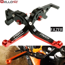 High Quality Motorcycle Accessories Adjustable Folding Brake Clutch Lever for honda FZ6 FAZER 2004-2010 FZ1 FAZER/FZ-1 2006-2015 motorcycle accessories folding brake clutch lever for yamaha r1 r6 r6s fz1 fz6 fazer 2002 2008 2003 2004 2005 2006 2007