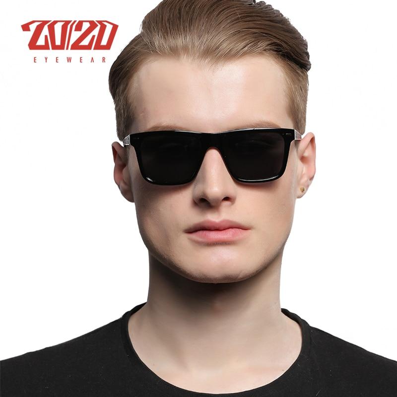 20/20 Marca Retro Hombres Gafas de sol Metal Lattice Frame Man - Accesorios para la ropa - foto 3