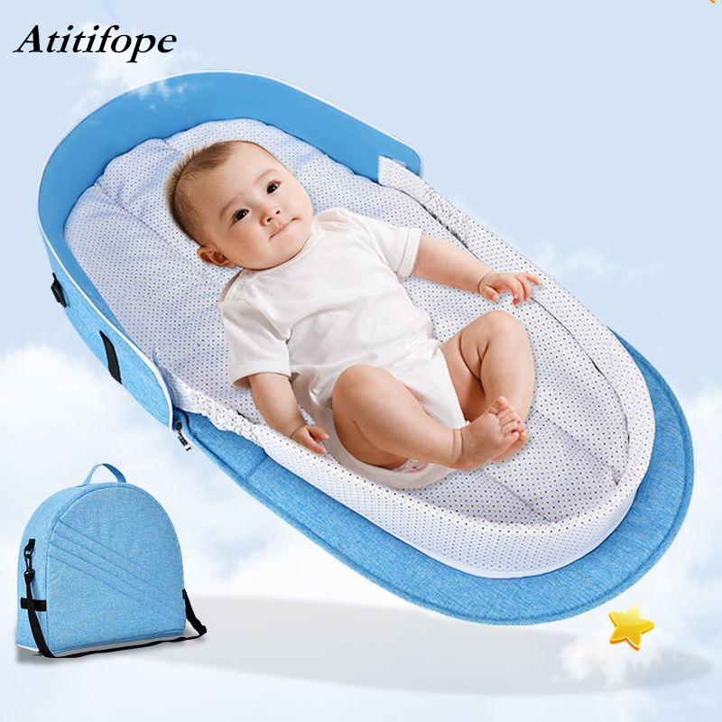 Portable baby bed multi-function crib fashion mummy bag Travel baby cirb with sunshade and mosquito coverPortable baby bed multi-function crib fashion mummy bag Travel baby cirb with sunshade and mosquito cover