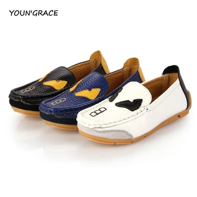 Novo Design crianças de couro sapatos para meninos estilo Preppy crianças sapatos de couro crianças sapatos muscular vaca, S014
