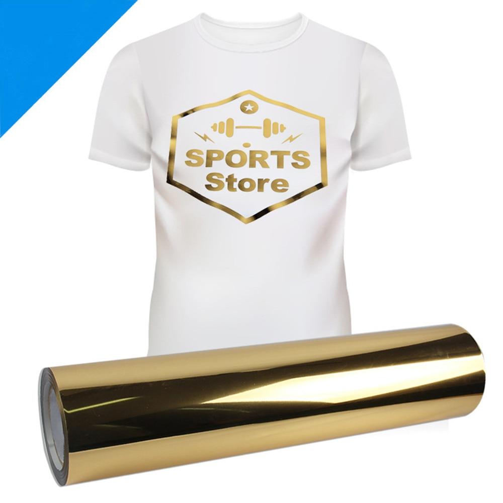 20X118 (50cm x 300cm) Gold Metallic Heat Transfer Vinyl Iron-on HTV Press Paper Sheet for Garment T-shirt PU20X118 (50cm x 300cm) Gold Metallic Heat Transfer Vinyl Iron-on HTV Press Paper Sheet for Garment T-shirt PU
