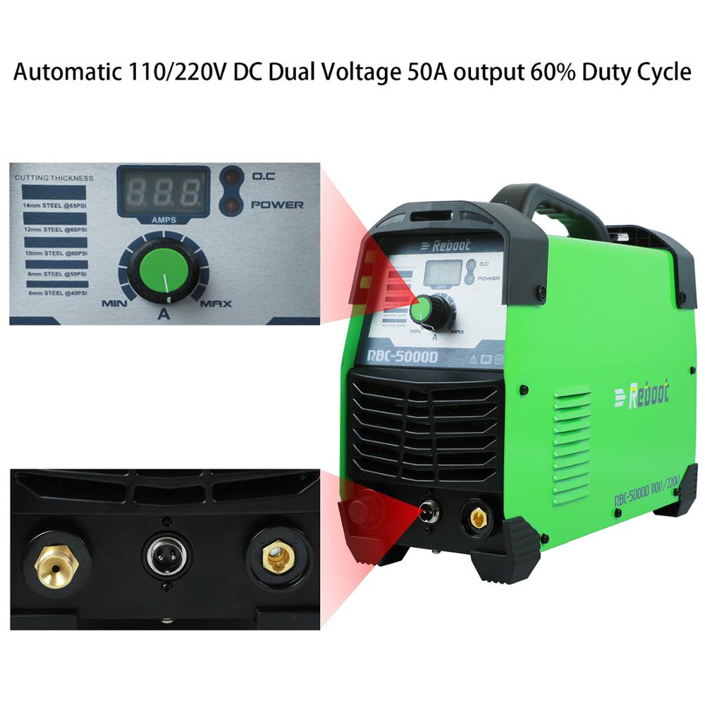 "Plasma Cutter 50Amps Automatic 110/220V Dual Voltage Compact Metal Cutter AC 1/2"" Clean Cut Inverter Cutting Machine IGBT Welder-in Plasma Welders from Tools    2"