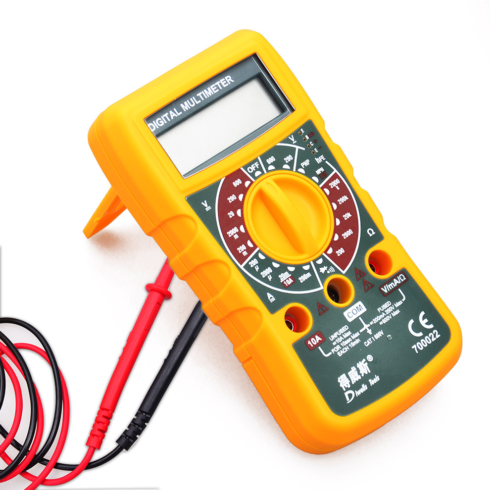 ФОТО free shipping electrical maintenance digital display multimeter current voltage resistance capacitance testing instrument tool