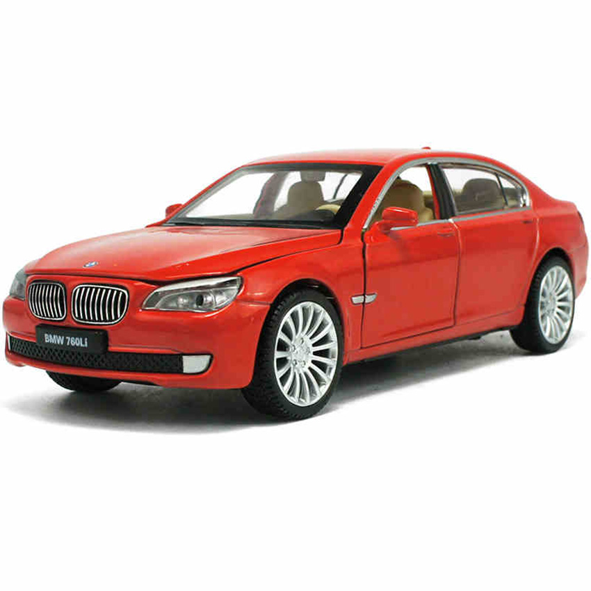 1:32 760Li Coupe Toy Vehicles Model Alloy Pull Back Children Toys Genuine License Collection Simulation Gift Off-Road Car Boy