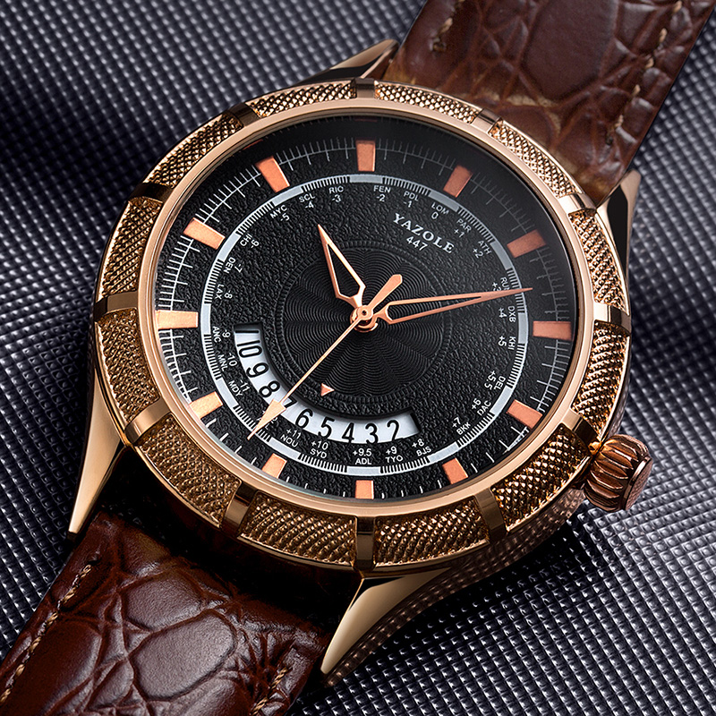 Man Watch 2019 YAZOLE Top Brand Luxury Fashion Sports Watches Men Vintage Engraving Watches Quartz erkek kol saat horloge heren