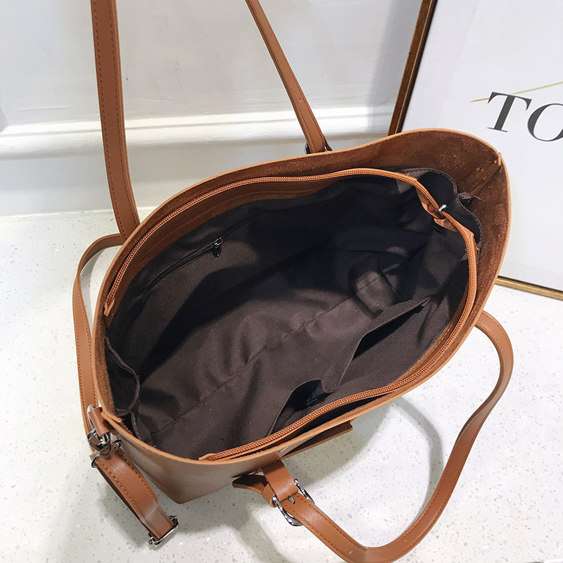 Image 5 - 2019 big Women Handbag Leather Women Shoulder Bags  Designer  Women Messenger Bags Ladies Casual Tote Bags sac a main-in Shoulder Bags from Luggage & Bags