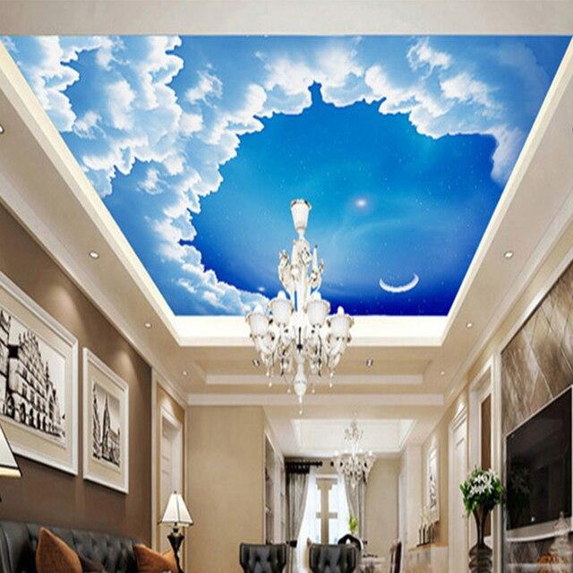 Soffitto 3d stereo carta da parati cielo notturno stellato for Carta da parati per soffitto
