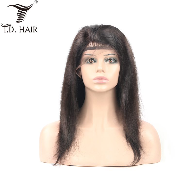Brazilian 130% 150% 180% Transparent Lace Front Wigs Straight Human Hair Wig Pre Plucked 22 24 26 28 30 Inch Remy Hair Lace Wigs
