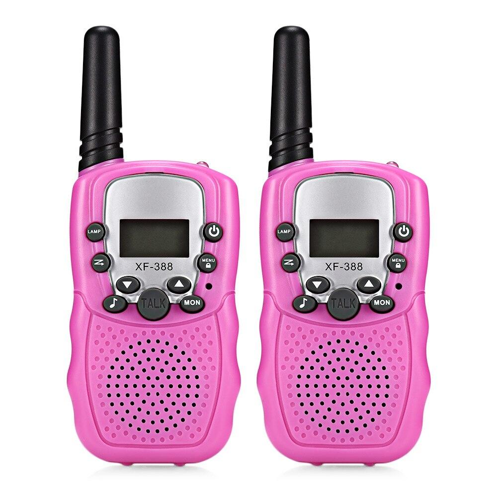 2pcs Baby Monitor XF - 388  Children Walkie Talkies 2-Way Radio 3KM Range 8 Channels With Adjustable Volume Levels2pcs Baby Monitor XF - 388  Children Walkie Talkies 2-Way Radio 3KM Range 8 Channels With Adjustable Volume Levels