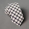 Novos Negócios Chegada Masculino Ternos De Algodão Tie Acessórios Da Marca de Vestuário de Moda Xadrez Gravata dos homens Gravatas Gravatas Para Festa de Casamento