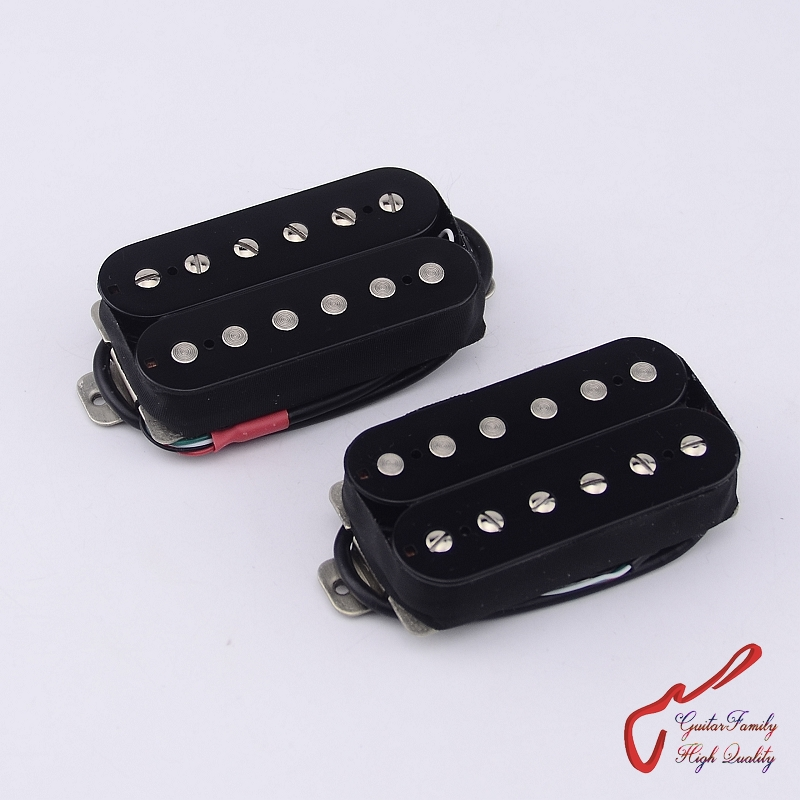 1 Set GuitarFamily GFH1+GFH4  Electric Guitar Alnico Open Humbucker Pickup   ( #0204 )  Tone according   SH1+SH4 1 set guitarfamily alnico pickup for casino jazz guitar nickel cover made in korea