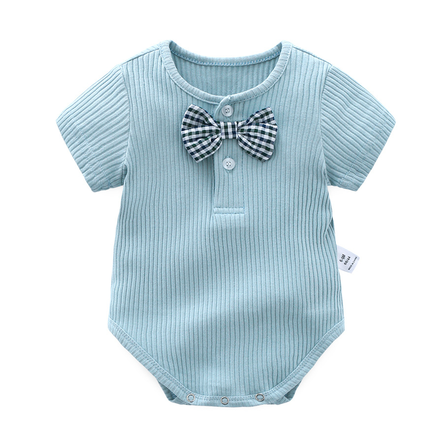 Orangemom official store summer 2018 gentle tie baby boy clothes infant clothes cute 5 colours baby costume newborn Bodysuit