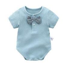 Orangemom official store summer 2019 gentle tie baby boy clothes infant cute 5 colours costume newborn Bodysuit