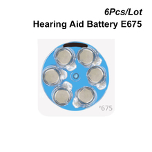 Zinc Air Button Cell 675 1.4V Blue Tab Hearing Aid Battery Power PR44 e675 Replaces 675A 675P A675 AC675 DA675 P675 PR675 ZA675