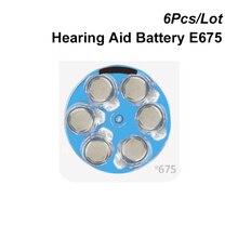 Zinco ar botão célula 675 1.4 v azul tab aparelho auditivo bateria energia pr44 e675 substitui 675a 675 p a675 ac675 da675 p675 pr675 za675