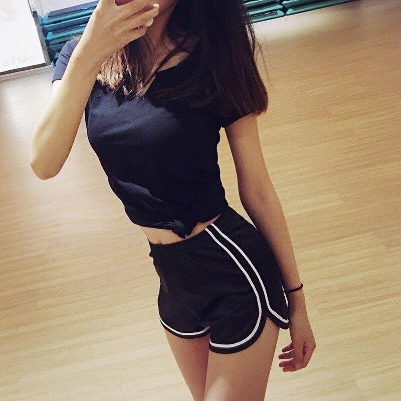 Neue Frauen Shorts Sommer Silk Dünne Strand Casual Weiß Egde Shorts Heißer Elastische Taille Croth Fitness Shorts Shorts