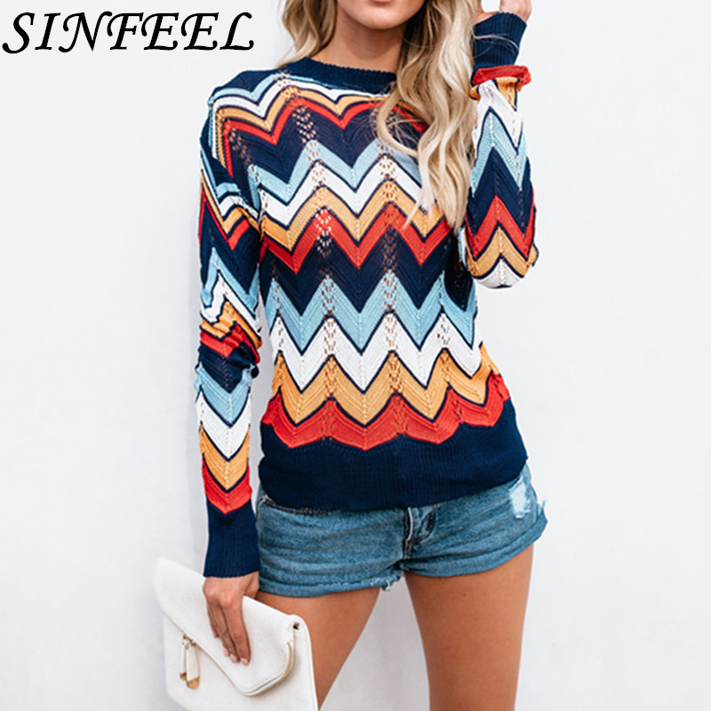 Sinfeel 2019 Autumn Soft Sexy Woman Ladies Long Sleeve Sweater Smooth New Pullovers White Thin O-Neck Winter Sweater Cropped Top