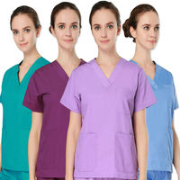 2017 Summer Rushed Medical Suit Lab Coat Women Hospital Medical Scrub Clothes Uniform Fashion Design Slim Fit Breathable