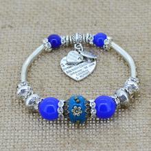 Silver Plated Love Heart Charm Bracelets